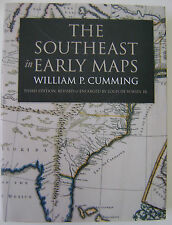 The Southeast in Early Maps by William P. Cumming hardback book revised enlarged