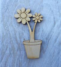 12 Pack Wooden Fairy Flowerpot Shapes Fairy Door Accessory Code Flowerpot