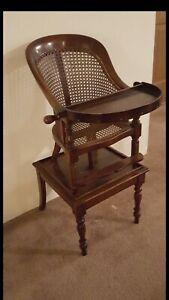 English Regency Mahogany Child's High Chair Circa 1805. Great condition.