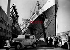PAQUEBOT  ATLANTIQUE PHOTO  QUENN MARY  OCEAN SHIP LINER  18x13  NEW YORK