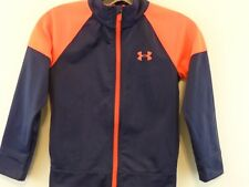 UNDER ARMOUR Boy Full Zip Jacket Youth 6 Navy/Orange