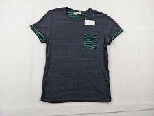 New Eleven Paris Shirt Adult Medium Men Blue Green Pocket Tee Waves Designer