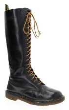 Dr DOC MARTENS Boots 8 Womens UK 6 20 Eye Lace Up COMBAT Boots PUNK ENGLAND Made