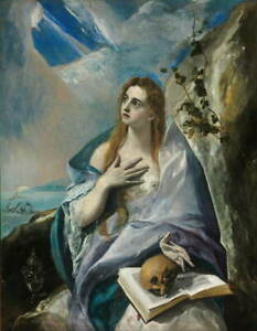 El Greco The Penitent Mary Magdalene Poster Reproduction Giclee Canvas Print