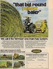 Original 1975 Vermeer Hay Baler Magazine Ad