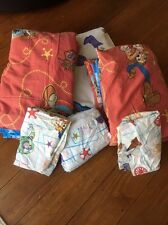 Vintage Disney 1990 Woody Buzz Toy Story Twin Bedding Comforter Sham Dust Ruffle