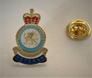 RAF Police (RAFP) Veteran crest 25mm Pin badge
