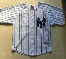 f8a46b26171 Majestic MLB New York Yankees Derek Jeter 2 Boys Blue White Pinstripes  Jersey 8