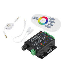 Sound Audio LED RGB RF Music Controller Touch Remote 2 Channel 12/24V 18A @Q