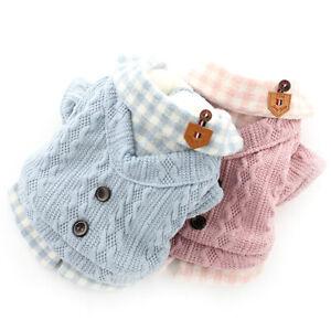 Pet Dog Cat Warme Knit Jumper Knitwear Coat Sweater Puppy Apparel Jacket Winter