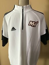 Adidas NBA Miami Heat White Quarter Zip Pullover Sweater / Size XL