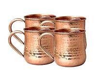 Copper Moscow Mule Mug Handmade Of 100% Pure Copper capacity 16 Oz mug Set of-4