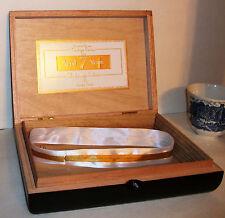 "NICE WOOD ROCKY PATEL Empty Black HINGED CIGAR BOX Jewelry Trinket Craft Idea 9"""