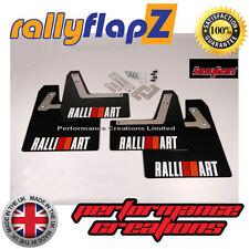 Rally Mudflaps to Fit Lancer Evolution 7 8 9  Mud Flaps set of 4 Black Kaylan