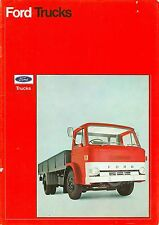 1971 FORD D-SERIES 2-AXLE RIGID TRUCKS RANGE BROCHURE