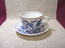 Blue Danube Blue Onion Cup & Saucer Block Mark