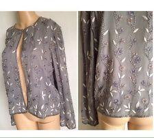 ADRIANNA PAPELL BOUTIQUE EVENING Women's Sz 8 L Silk Beaded Jacket Blazer Blue