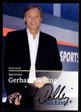 Gerhard Delling Sportschau Autogrammkarte Original  Signiert ## BC 31425