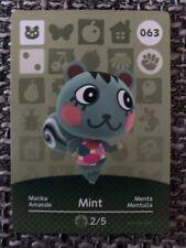 Animal Crossing Amiibo-Karte Serie 1/Nr. 063 - Marika/Mint (EU-Version!)