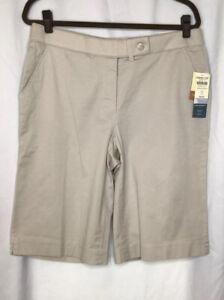 Cold Water Creek Khaki Shorts Size 12 Aspenwood Fit  Stretch Twill   NWT