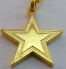 Dallas Cowboys Gold Star Logo Charm Petite Necklace NFL Licensed Jewelry