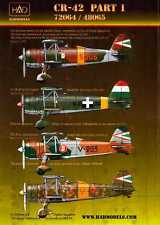 Hungarian Aero Decals 1/48 FIAT CR-42 Hungarian WWII Fighter Part 1