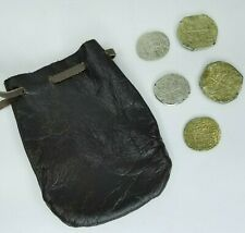 Leather Bag Pouch Drawstring Vintage Coins Viking Pirate Cosplay D&D GOT King