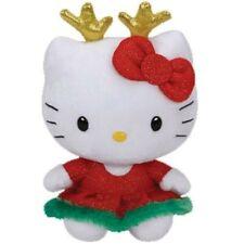 TY HELLO KITTY CHRISTMAS REINDEER BEANIE BABY NEW