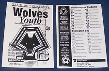 Wolverhampton Wanderers Youth v Birmingham City Youth [S.J.F Cup] 1997-1998