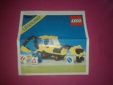 LEGO legoland # 6686, pelleteuse, Notice uniquement /Instructions only
