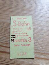 Alte Fahrkarte Berliner S Bahn Preisstufe 3 rot