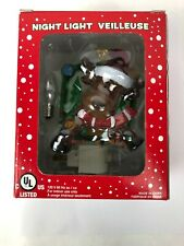 Christmas Night Light Veilleuse Reindeer Red White Green Wall Plug Indoor Kids