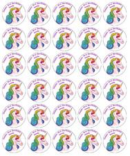 UNICORNO Personalizzato decorazioni per cupcake wafer commestibile carta compra 2 ottieni 3RD GRATIS!