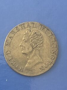 1814 Field Marshall Wellington Canada Halfpenny Deliverer Of Portugal And Spain