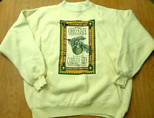 OHIO STATE UNIVERSITY Campaign Yew Seeds tan sweatshirt XL Buckeyes 1990 OSU