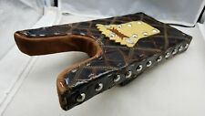 Alligator Super Bootjack Custom Leather &Nailheads Western Cowboy Wood Boot Jack