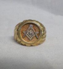 10K Gold Masonic Ring Mason Compass 7.67 grams Size 10