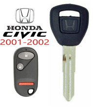 Honda Civic 2001 2002 HD106 Transponder Chip Key + Remote NHVWB1U523 USA A+++