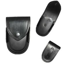 LHP 100-BK BLACK LEATHER HANDCUFF HOLSTER Lot Of 3 LTD QTY
