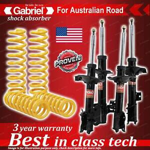 4 x Raised Gabriel Shock + Coil Spring for Nissan X-Trail T30 2.5L 4WD 9/01-9/07