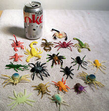 Lot of 20 Insects/Bugs of Various Lengths, Sizes, Colors, and Markings