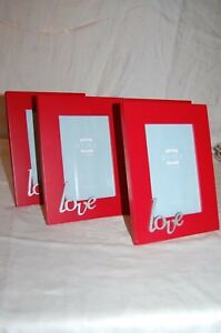 Valentine's Day Wooden Photo Frame  Love in Silver Sweethearts