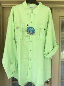 New Columbia PFG Bahama ll Mens Roll-tab Long Sleeve Fishing Shirt Size 2XL