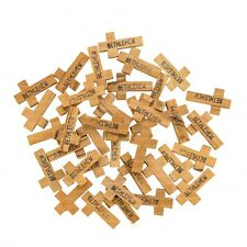 Lot of 50 Bethlehem Olive Wood Crosses 2.7 cm for Rosary Makers or Necklaces