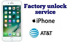 FACTORY UNLOCK SERVICE FOR AT&T IPHONE 7 Plus 7 6 Plus 6S 5 SE  CLEAN  FAST