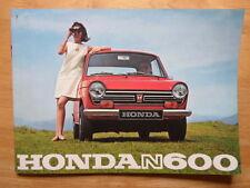 Honda N600 Orig 1967-69 Reino Unido MKT prestigio 16pp folleto de ventas