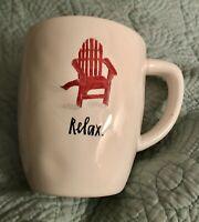 Rae Dunn RELAX Mug  White with Red interior - Adirondack Chair