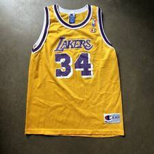 Vintage 90's Champion Los Angeles LA Lakers Shaquille O'neal Jersey Sz Youth XL