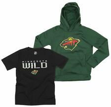 OuterStuff NHL Youth Minnesota Wild Team Performance Hoodie and Tee Combo Set