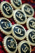 10 STAMPED Authentic Chanel Buttonslot for  10 pcs  black gold 💋😍😘👍